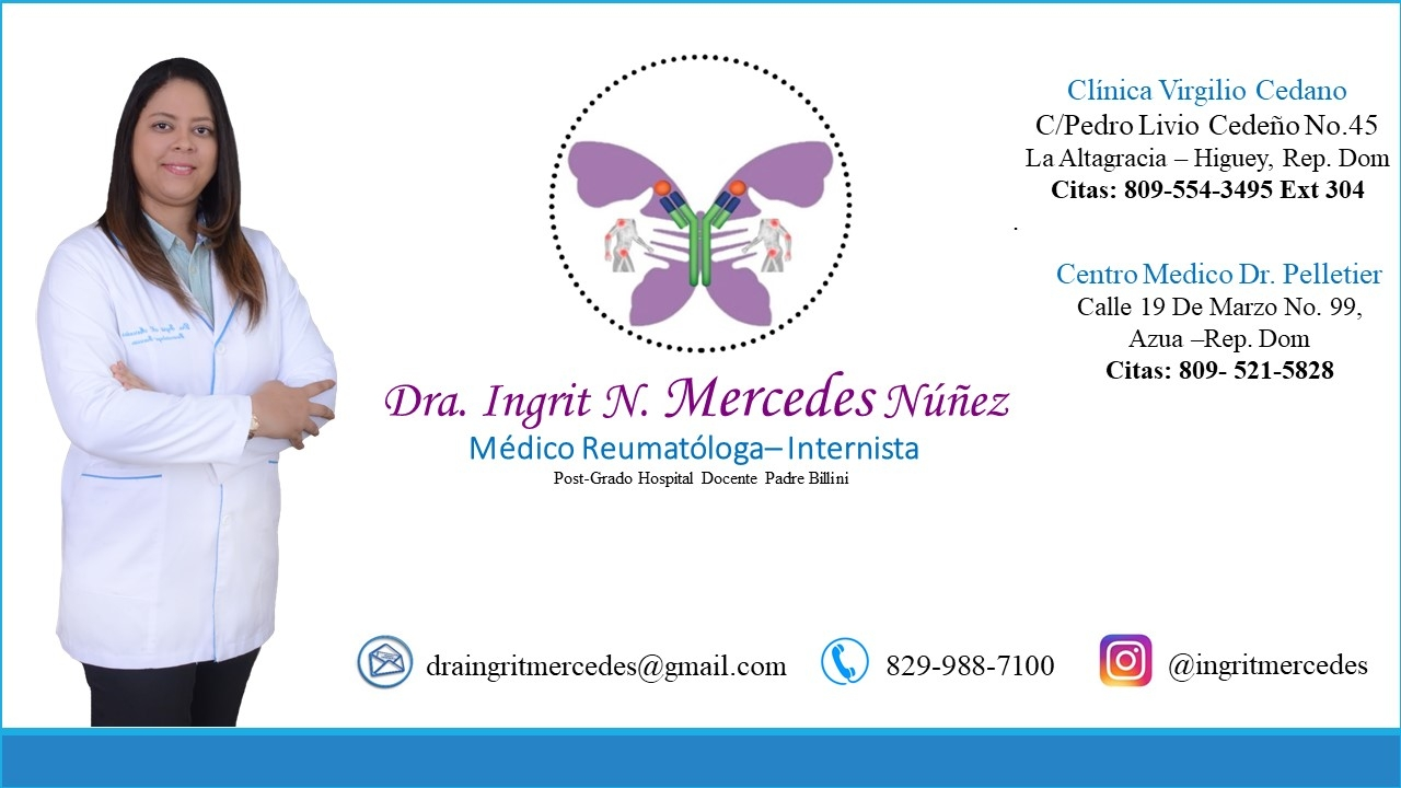 Dra. Ingrit Mercedes, Reumatóloga-Internista